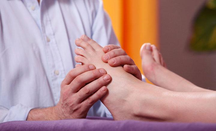 Fußreflexzonen-Massage, Anwendung