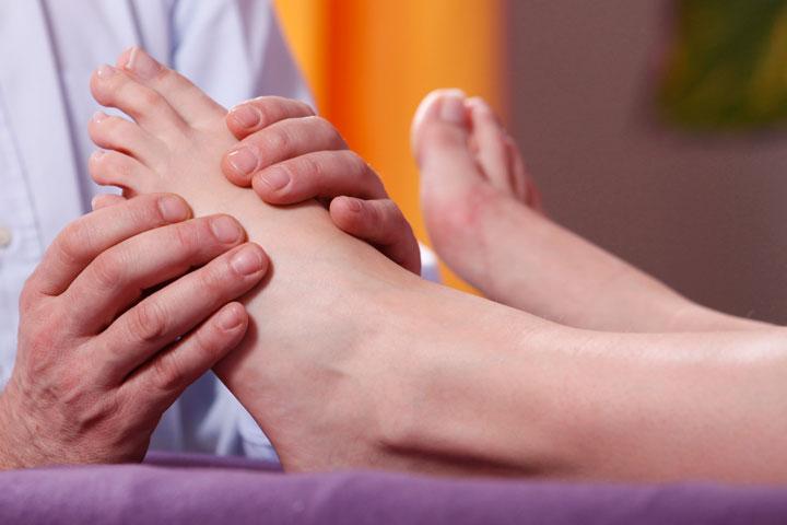 Anwendung Fußreflexzonen-Massage